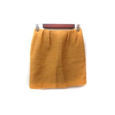 【中古】ノーリーズ Nolley's sophi タイトスカート ミニ ウール 36 オレンジ /YI レディース 【ベクトル 古着】