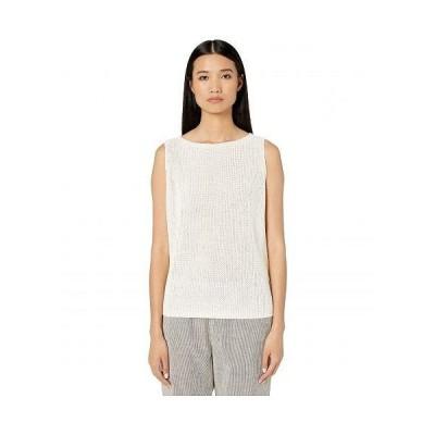Eileen Fisher アイリーンフィッシャー レディース 女性用 ファッション トップス シャツ Organic Linen Delave Bateau Neck Shell - Soft White