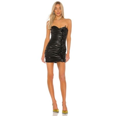 ジュゼッペ ディ モラビト GIUSEPPE DI MORABITO レディース ワンピース ミニ丈 ワンピース・ドレス Leather Mini Dress Black