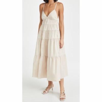 スタウド STAUD レディース ワンピース ワンピース・ドレス Cleo Dress Biscotti/White