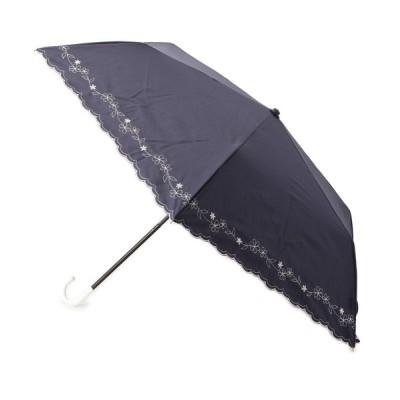 grove / 晴雨兼用フラワー刺しゅう折りたたみパラソル WOMEN ファッション雑貨 > 折りたたみ傘