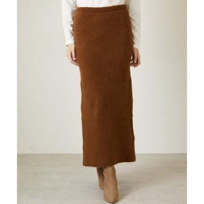 スカート 【enrica】ラクーンニットタイトスカート