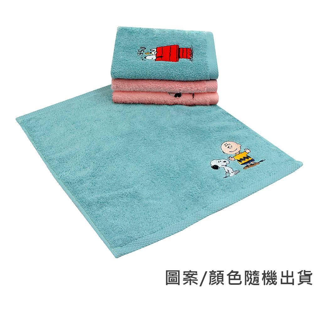 SNOOPY刺繡方巾二入組