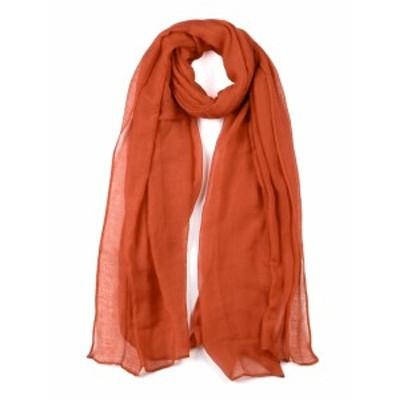 uxcell ショールスカーフ ロング ウォーム ショール 柔らかい スカーフ 男女兼用 オレンジ-2 180x99cm