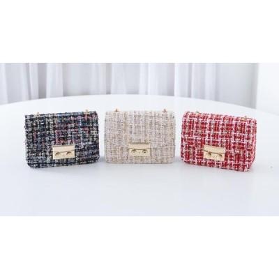 PIPPIN レディース ショルダーバッグ Tweed chain mini bag #85013