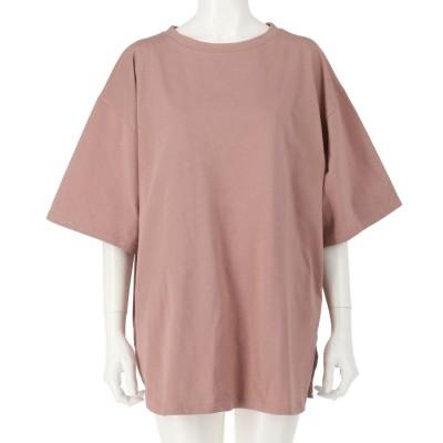 anap mimpi USAコットンヘムラウンドビッグTシャツ(ピンク)