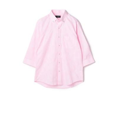 ボタニカルジャガードシャツ 7 分袖/リネン混