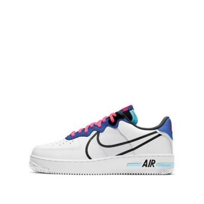 ナイキ メンズ スニーカー シューズ Nike Air Force 1 React sneakers in white
