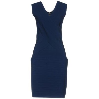 ツインセット シモーナ バルビエリ TWINSET ミニワンピース&ドレス ブルー L 61% レーヨン 20% ナイロン 19% ポリウレタン ミ