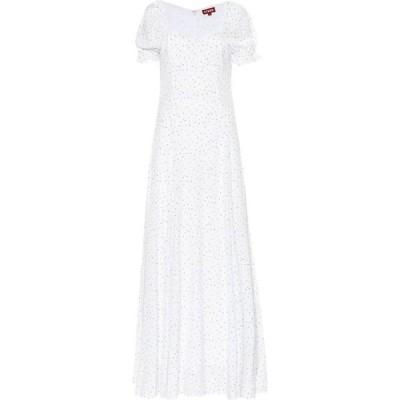 スタウド Staud レディース ワンピース ワンピース・ドレス Pelicano flocked crepe dress Buttercup Floral