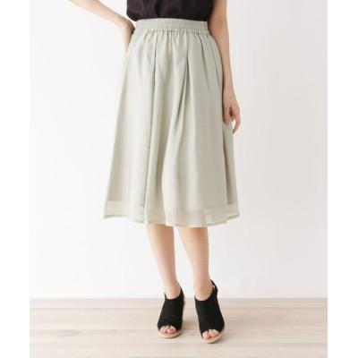 SOUP / 【大きいサイズあり・13号・15号】ギャザーフレアスカート WOMEN スカート > スカート