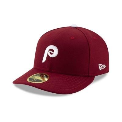 ニューエラ 帽子 アクセサリー メンズ Philadelphia Phillies Low Profile AC Performance 59FIFTY Fitted Cap Maroon