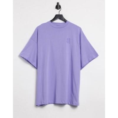 エイソス レディース シャツ トップス ASOS 4505 logo oversized t-shirt Lilac