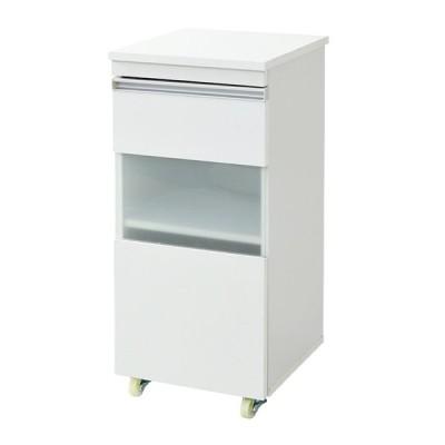 キッチン収納 キッチン レンジワゴン おしゃれ シンプル 収納棚 食器棚 炊飯器台 可動棚 隙間ミニキッチンシリーズ キャビネット 幅40cm FKC-0005 2色対応