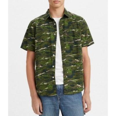 リーバイス メンズ シャツ トップス Levi'sR Abstractfishwave Glen Cove Classic 1 Pocket Short-Sleeve Chambray Shirt Abstractfishwa