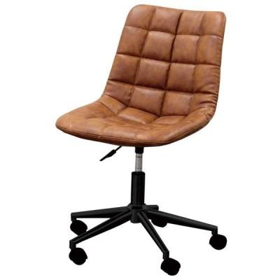 椅子 デスクチェア ワークチェア CL-330 ミディアムブラウン色 組立式 360度回転 キャスター付 オフィスチェア