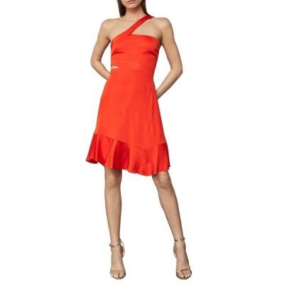 ビーシービージーマックスアズリア レディース ワンピース トップス Asymmetric Neck Cutout Swing Dress VIBRANT ORANGE