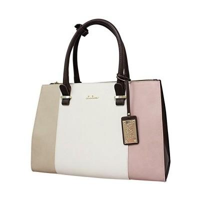 [クレリア] Clelia トートバッグ 鞄 レディース 2way B5サイズ対応 トリコロール かわいい シンプル フェイクレザー 大容量 ショルダ