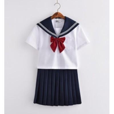 短袖 夏用 JK系 セーラー服 制服 学生 セット シャツ フリルスカート 女の子 セーラー服 女子スカート制服 スクールウェア
