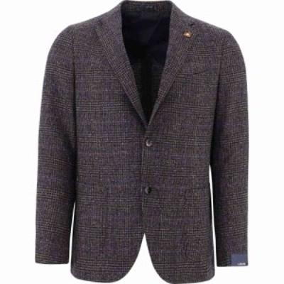 ラルディーニ Lardini メンズ スーツ・ジャケット アウター Wool Tweed Blazer Brown