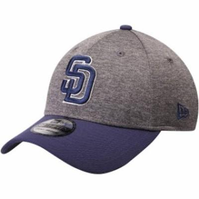 New Era ニュー エラ スポーツ用品  New Era San Diego Padres Adult Heathered Gray/Navy 39THIRTY Shadow Tech Flex Hat