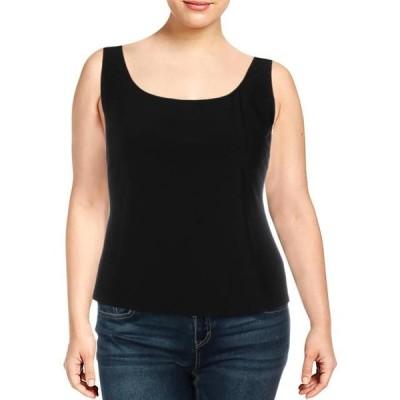 レディース 衣類 トップス Alex Evenings Womens Knit Layering Tank Top Black XL タンクトップ