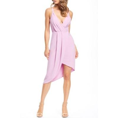ドレスザポプレーション レディース ワンピース トップス Owen V-Neck Sleeveless High-Low Crepe Cocktail Dress