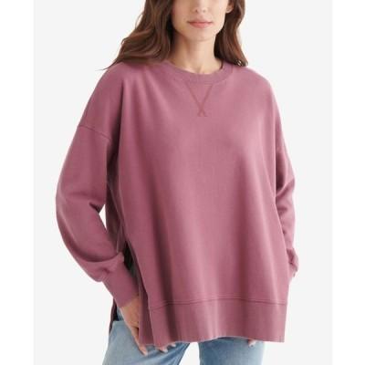 ラッキーブランド レディース シャツ トップス Women's Fleece Crew Neck Pullover Top