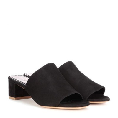 マンサーガブリエル Mansur Gavriel レディース サンダル・ミュール シューズ・靴 suede sandals BLACK
