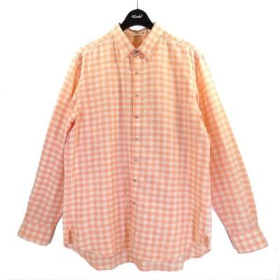 【5月27日値下】Pero ギンガムチェックシャツ ピンク×ホワイト サイズ:42 (南船場店)