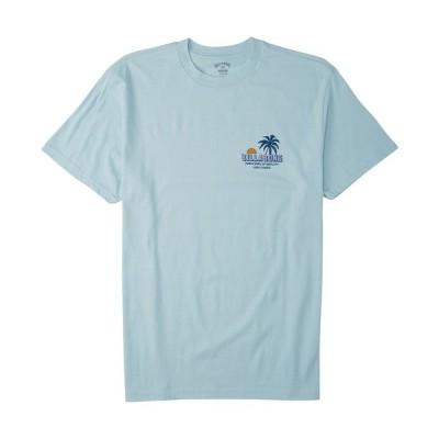 ビラボン Tシャツ トップス メンズ Men's Palmas T-shirt Coastal Blue