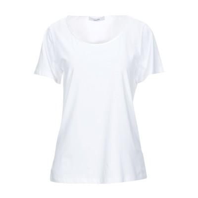 LANACAPRINA T シャツ ホワイト 42 コットン 95% / ポリウレタン 5% T シャツ
