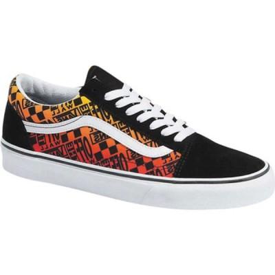バンズ スニーカー シューズ レディース Old Skool Logo Flame Canvas Sneaker Black/True White