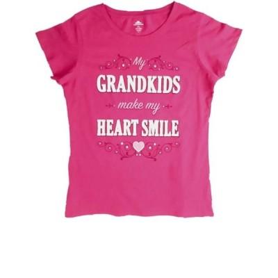 レディース 衣類 トップス Womens Grandkids Make My Heart Smile Tee Shirt Tank Valentine Holiday T-Shirt Tシャツ
