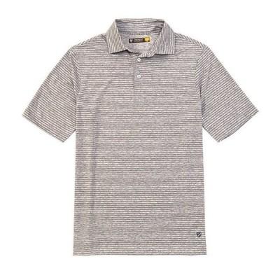 ダニエル クレミュ メンズ シャツ トップス Thin Stripe Performance Short-Sleeve Polo Shirt