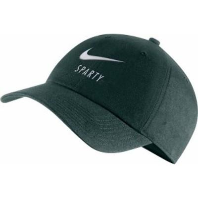 ナイキ メンズ 帽子 アクセサリー Nike Men's Michigan State Spartans Green Heritage86 Adjustable Hat -