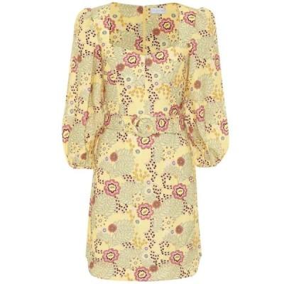 レベッカ ヴァランス Rebecca Vallance レディース ワンピース ワンピース・ドレス Sahara floral linen-blend minidress Floral Print
