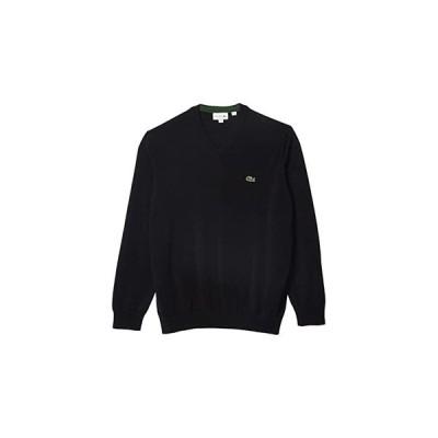 ラコステ Long Sleeve Solid V-Neck Sweater メンズ セーター Black