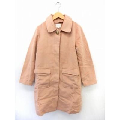 【中古】グローブ grove コート アウター ステンカラーコート ポケット 無地 シンプル ライナー付き L ピンク /ST5
