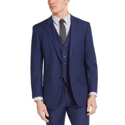 ペリーエリス ジャケット&ブルゾン アウター メンズ Men's Portfolio Slim-Fit Stretch Suit Jackets Blue Pindot
