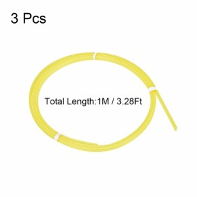 uxcell 海外出荷 PPRプラスチック溶接棒 幅5mm 厚さ2.5mm 1M 溶接棒 プラスチック溶接ガン/ホットエアガン用 イェロー 3個