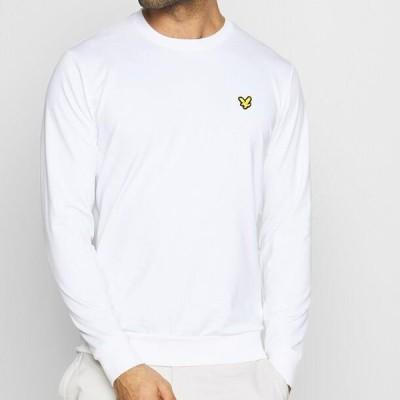 ライルアンドスコット メンズ スウェット GOLF TECH CREW MIDLAYER - Sweatshirt - white