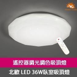 Honey Comb LED36W星鑽調光調色臥室吸頂燈 V3943-36W-庫