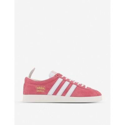 アディダス ADIDAS メンズ スニーカー シューズ・靴 gazelle logo-embellished suede trainers REAL PINK WHITE WHITE