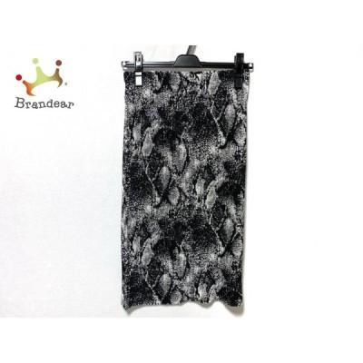 スペッチオ SPECCHIO ロングスカート サイズ40 M レディース 新品同様 - 黒×白 新着 20210113