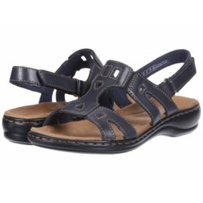 Clarks クラークス レディース 女性用 シューズ 靴 サンダル Leisa Annual Navy Leather【送料無料】