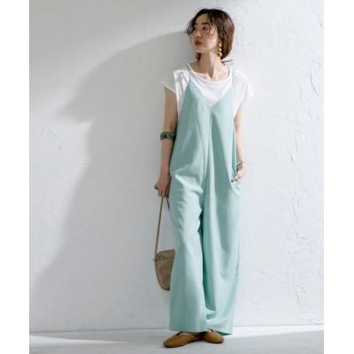 【コーエン】 Tシャツ×キャミサロペット# レディース LIME MEDIUM coen