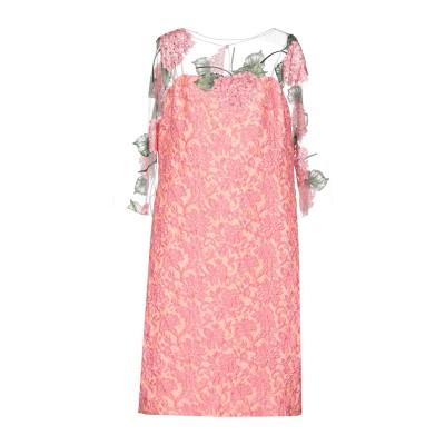 MARIA GRAZIA SEVERI ミニワンピース&ドレス ピンク 44 ナイロン 45% / レーヨン 45% / ポリエステル 10% /