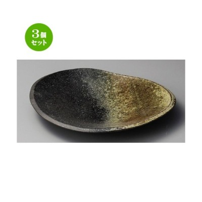 3個セット ☆ 大皿 ☆ 古陶12.0変形大皿 [ 355 x 320 x 50mm ] 【料亭 旅館 和食器 飲食店 業務用 】