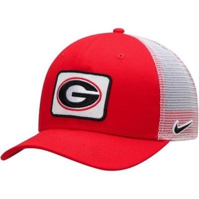 ユニセックス スポーツリーグ アメリカ大学スポーツ Georgia Bulldogs Nike Classic 99 Trucker Adjustable Snapback Hat - Red - OSFA